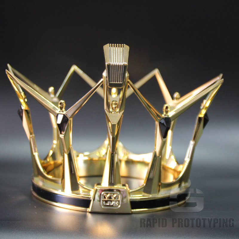 Electroplating Plastic YY imperial crown