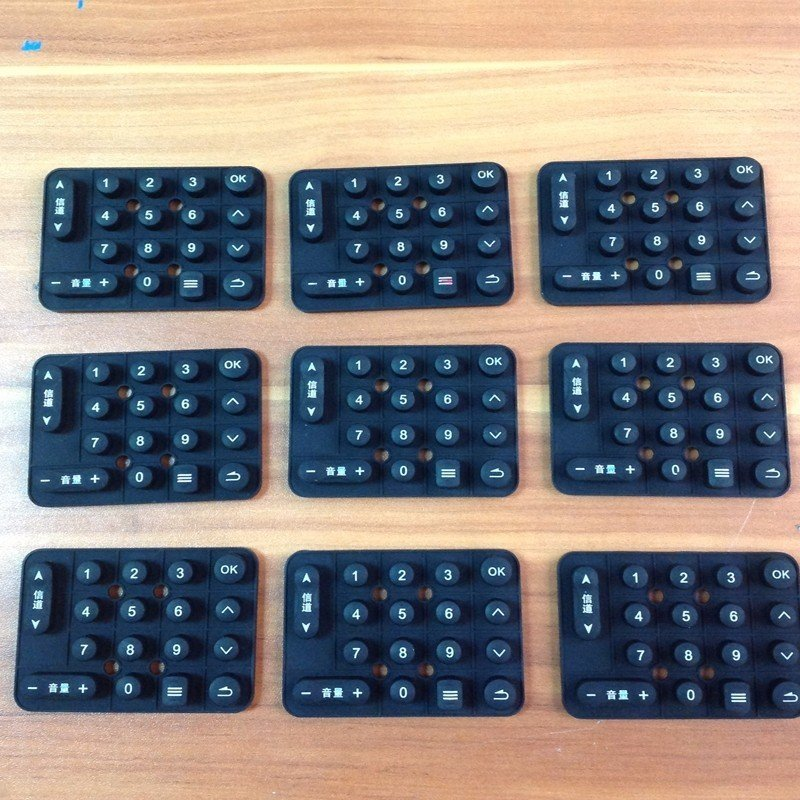 Customized Silicone production Rubber keys parts