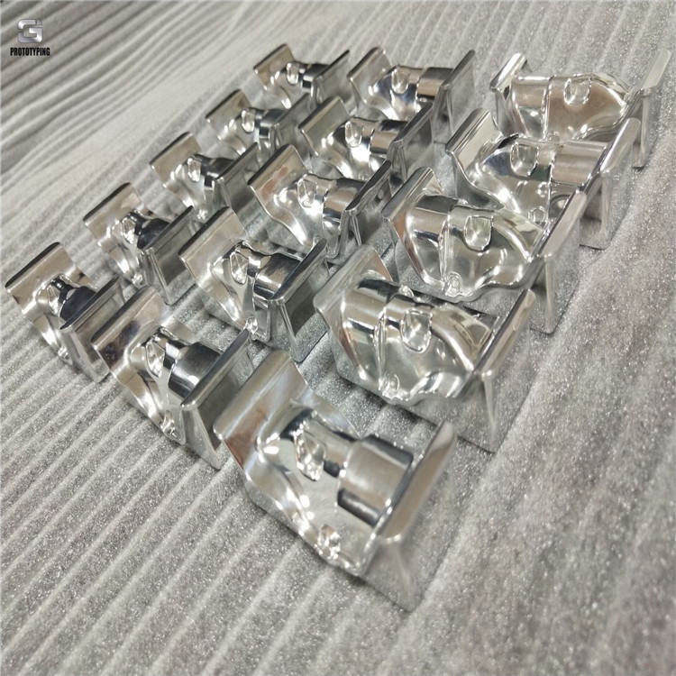 High polished aluminum components
