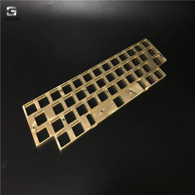 Polished brass keyboard CNC machining