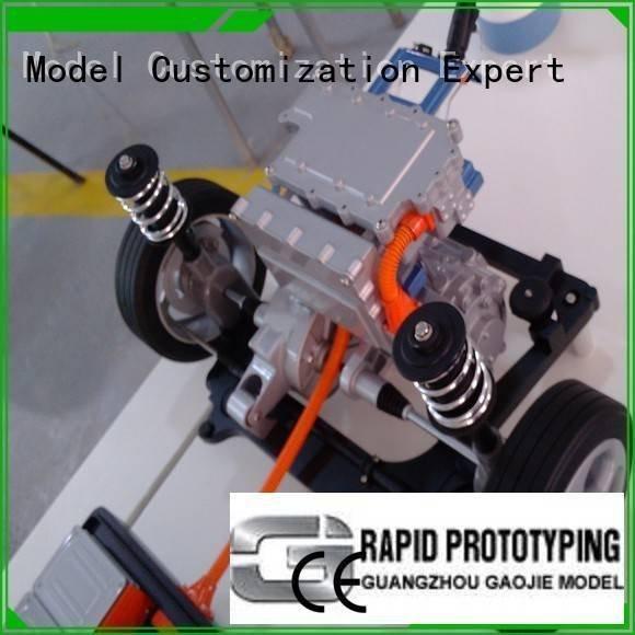 cnc plastic machining models car rubber Gaojie Model