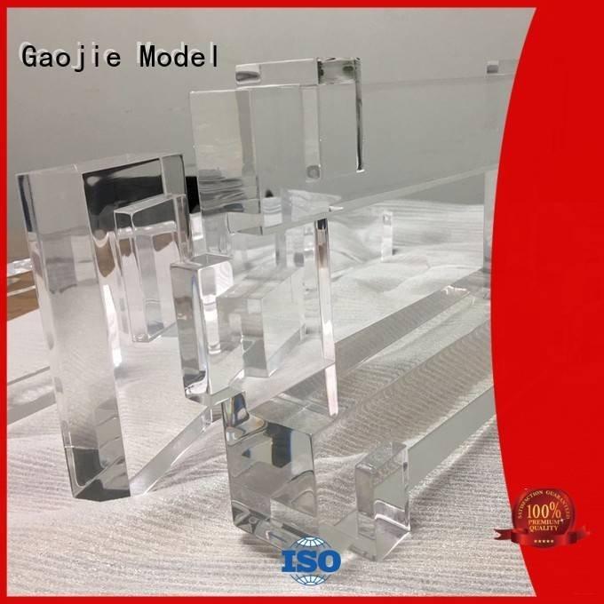 Gaojie Model 3d print transparent plastic building quality bottles crafts