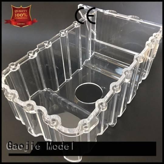 Gaojie Model Brand rapid industrial 3d print transparent plastic crystal building
