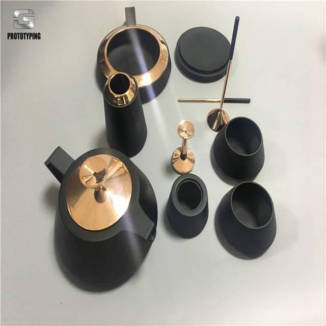 Electroplating 3d printing rapid prototyping tea set